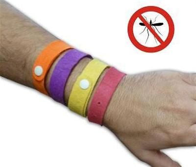 20x Anti Mosquito Insects Bug Repellent Bracelet Wrist Band Camping Outdoors Etc