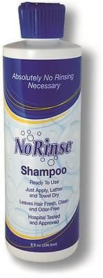 Case of 24-Cleanlife Waterless No Rinse Shampoo 8 Oz.- Hospitals, Homes, Seniors