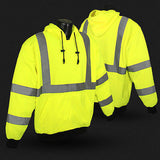 Safety Long Sleeve Hooded Pullover Sweatshirt ANSI/ISEA107-2010 Class 3 SJ02-3