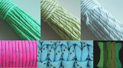 5X25 FT 9 Strand Glow in the Dark Reflective Paracord Parachute Cord Wholesale