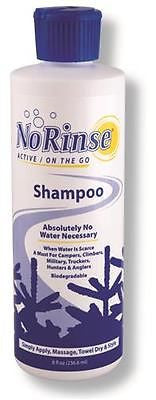 Case of 12- Cleanlife No Rinse Outdoor Waterless Shampoo- 8 oz. Camping Travel