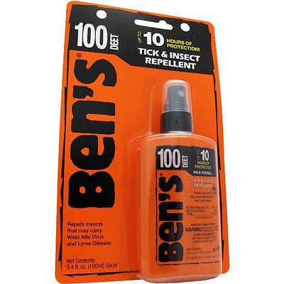 Ben's 100 Max Formula - DEET Tick/Insect Bug Repellent 3.4 fl. oz. Pump Spray