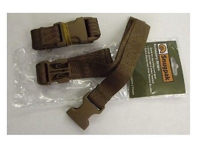 Snugpak Coyote Nylon Webbing Buckle Straps 2 Pack- Camp Tactical Military 92189