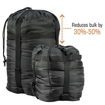 Snugpak Black Compression Stuff Sack XL Bag Tactical Military Camp Pack 92069