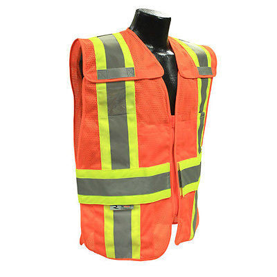 Breakaway Expandable Two Tone Safety Work Vest M/L ANSI/ISEA 107-2010 Class 2