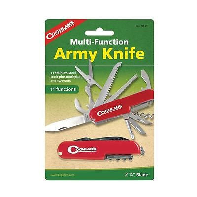 Coghlan's Coghlans 9511 Army Knife-Red Multifunction Scissor Saw Screwdriver Etc