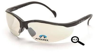 Pyramex V2 Readers +1.5 Lens Mirror Safety Glasses SB1880R15 Jobs Sports Eyewear