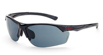 Crossfire Sunglasses AR3 Crystal Black Frame HD Smoke Lens 16428 Eyewear Safety