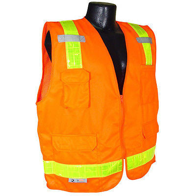 SV7P Surveyor Prismatic Class 2 Work Crew Safety Vest ANSI/ISEA107-2010 Size 5XL
