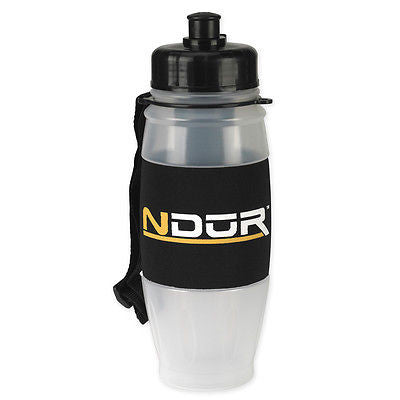 NDUR 28oz PULL TOP WATER FILTRATION BOTTLE, CLEAR W/BLACK CAP CYCLING HIKE 52015