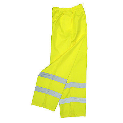 Radians RW10-ES1Y Lightweight Rain Pants Safety Job Working Reflective Hi Vis