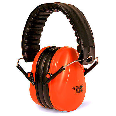 Black & Decker BD750 Compact Ear Muffs Job Safety Hearing Protection NRR 27DB