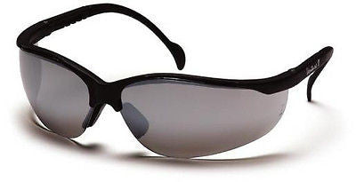 Pyramex Venture II SB1870S6 Shooting Sports Safety Glasses Silver Mirror Lens