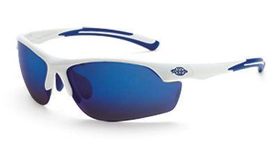 Crossfire Sunglasses AR3 White Frame HD Blue Mirror Lenses 16278 Eyewear Safety