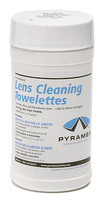 Pyramex Lens Cleaning Cloths 100 Towelette Wipes Hunting Safety Glasses Goggles
