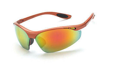 Radian Crossfire Talon Safety Glasses Sun Sports Red Mirror Lenses 119 ANSI Z87