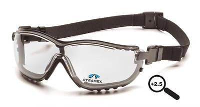Pyramex V2G Readers H2X Anti-Fog +2.5 Lens Safety Eye Glasses Goggle GB1810STR25