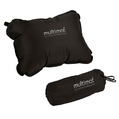 MULTIMAT SUPERLITE PILLOW BLACK MILITARY TACTICAL SELF INFLATES CAMPING SLEEPING