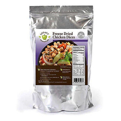100% USDA Freeze Dried Chicken- Legacy Premium Long Term Food Storage Prepping