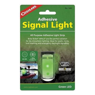Coghlan's 1480- Adhesive Signal Light- Green Kayaking, Rafting Camping Hiking