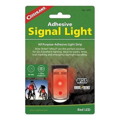Coghlan's Adhesive Signal Light- Red Boating Emergency Camp Hiking Brite Strike