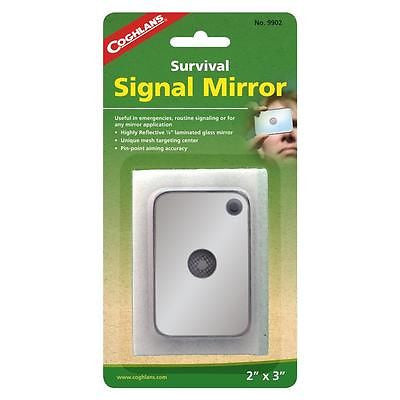 "12 Pack of Coghlan's 2"" X 3"" Survival Signal Mirrors"