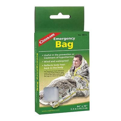 Coghlan's 9815 All Weather Emergency Bag Survival Tactical First Aid Sleeping