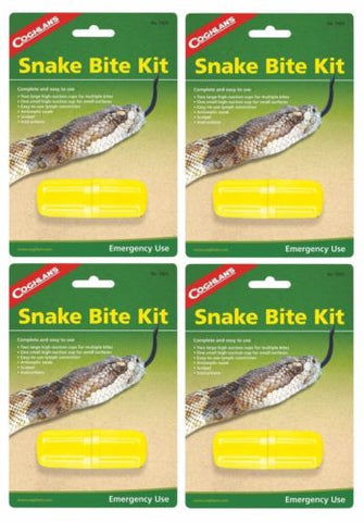 4 Pk Coghlans Snake Bite Kit Survival Extractor Sting Venom Bug Out Camp Hiking