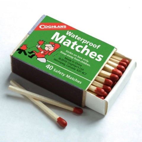 4 boxes of 40 Coghlans Waterproof Matches- Camping Heat Cook Cold Fire Emergency