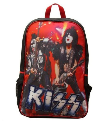 Kiss Gene Simmons Paul In Concert Print Padded Backpack Bag Officially Licensed