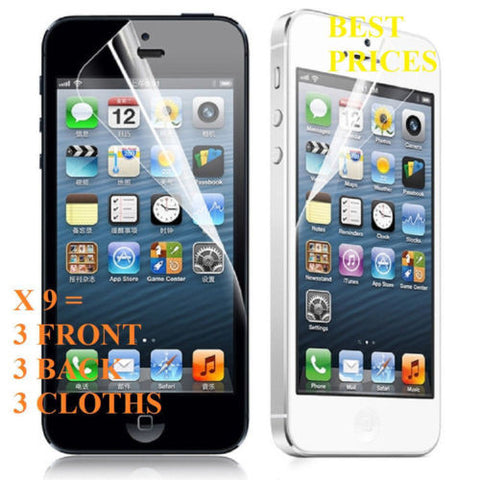 9X Newest HD Clear LCD Screen Protector Cover Guard For Apple iPhone 5 5th 5 Gen