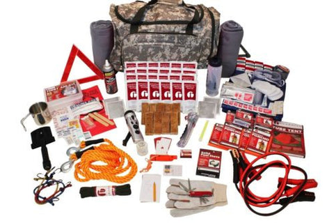 Family Road Guardian Survival Kit Emergency Prepper BOB Wheeled Pack SKRG-Camo