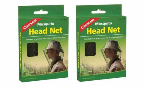 2 Pack Coghlan's Head Net Bug Mosquito Pest Insect Face Hat Cover Coghlans 8941