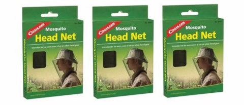 3 Pack Coghlan's Head Net Bug Mosquito Pest Insect Face Hat Cover Coghlans 8941