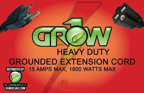 Grow1 240V Electrical Extension Cord 14 Guage 15' Heavy Duty Grounded