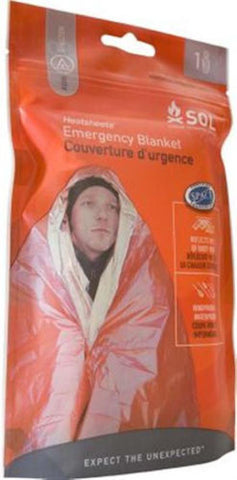 SOL Heatsheets® Emergency Survival Space Blanket AMK Camping, Hiking, Overnight