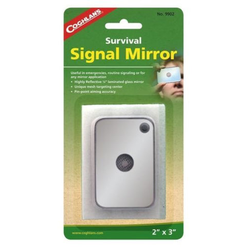 "12 Coghlan's 2"" X 3"" Survival Signal Mirrors-Emergency Shaving Hiking Multi Use"