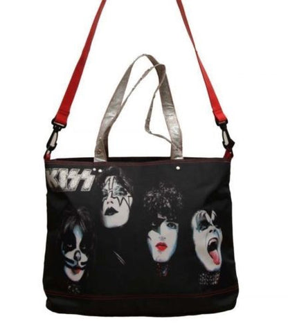 Kiss Gene Paul Stanley Painted Faces Rock & Roll Tote Bag Officially Licensed