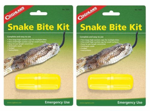 2 Pk Coghlans Snake Bite Kit Survival Extractor Sting Venom Bug Out Camp Hiking
