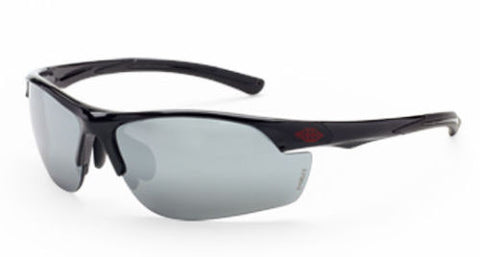 Crossfire Sunglasses AR3 Black Frame HD Silver Mirror Lenses 1663 Eyewear Safety