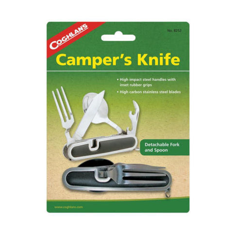 Coghlans 8252, Campers Knife w/Fork Spoon Utensil Set Camping Hunting Fishing RV