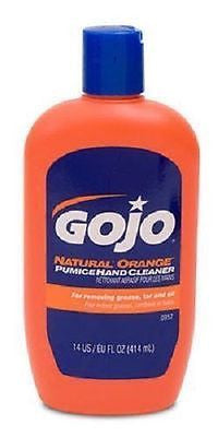 GoJo 14oz Natural Orange Citrus Scented Pumice Lotion Hand Cleaners 0957-12