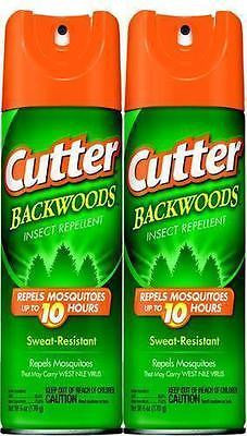 2 Pack Cutter Backwoods Mosquito Tick Insect 25% DEET Repellent 6 oz Spray 96282