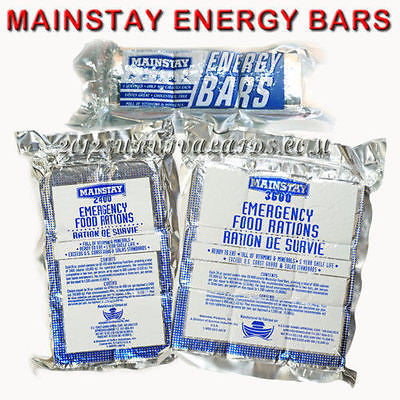 Mainstay Emergency Food Bars Sample Pack- high calorie 6 day Ration- Camping