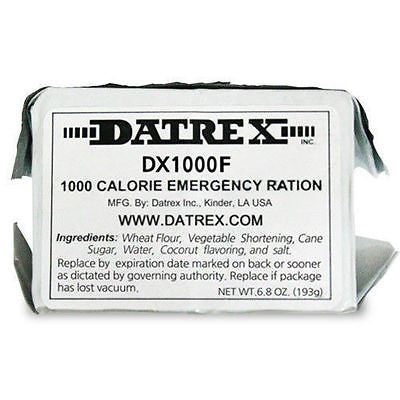 DATREX 1000 CALORIES EMERGENCY MEAL FOOD BAR- ENERGY SURVIVAL RATION CAMPING BOB
