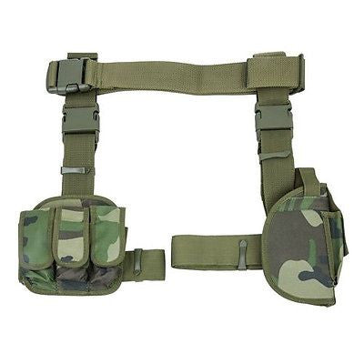 3 Piece Drop Leg Holster & Magazine Holder Right Hand Camouflage Ncstar CV2908WC