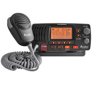 Cobra MR F57B Class D 25 Watt Fixed Mount VHR Radio - Black