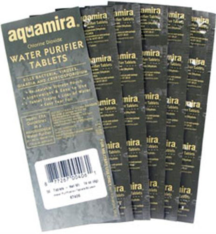 Aquamira Water Purifier Treatment Tablets (50 pack Military) 67406