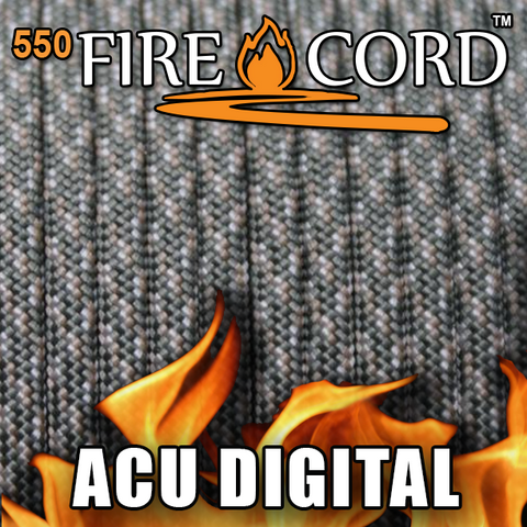 Live Fire 550 Paracord Fire Starting Parachute Cord 1 Foot Various Colors
