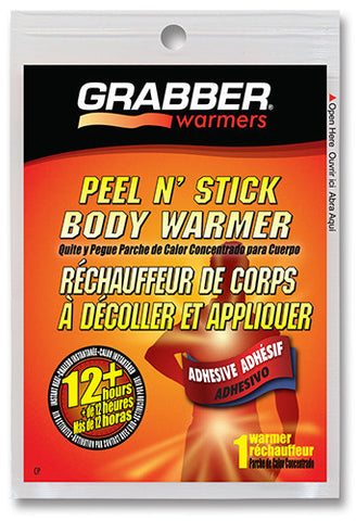 Grabber Adhesive Body Warmers 12 Hours Heat Work Therapeutic Pain/Cold Relief